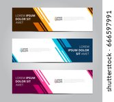 Vector abstract design banner web template. | Shutterstock vector #666597991