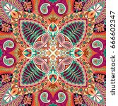 india seamless paisley pattern  ... | Shutterstock .eps vector #666602347