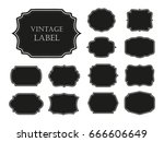 vector vintage labels.set of... | Shutterstock .eps vector #666606649