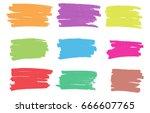 vector marker stains.grunge... | Shutterstock .eps vector #666607765