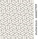 vector seamless pattern. modern ... | Shutterstock .eps vector #666607909