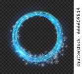 glowing rings with glitter and... | Shutterstock .eps vector #666609814