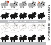 hippo set to find the correct... | Shutterstock .eps vector #666615691