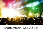 young people dancing and having ... | Shutterstock . vector #666615841