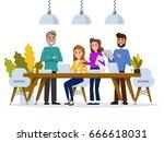 creative people working in co... | Shutterstock .eps vector #666618031