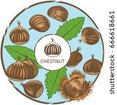 chestnut label. vector color...   Shutterstock .eps vector #666618661
