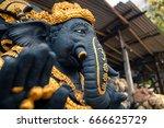 hindu god ganesha. ganesha idol. | Shutterstock . vector #666625729