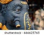 hindu god ganesha. ganesha idol. | Shutterstock . vector #666625765