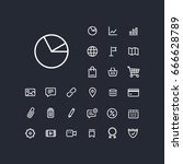 pie chart icon in set on the... | Shutterstock .eps vector #666628789
