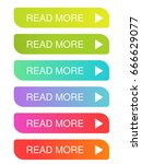 vector read more buttons with... | Shutterstock .eps vector #666629077