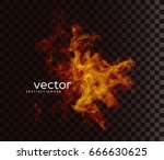 vector illustration of smoky... | Shutterstock .eps vector #666630625