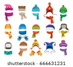 winter or autumn headwear... | Shutterstock .eps vector #666631231