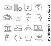 set of money related vector... | Shutterstock .eps vector #666631921