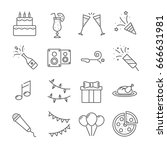 set of party  related vector... | Shutterstock .eps vector #666631981