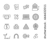 set of gambling related vector... | Shutterstock .eps vector #666632011