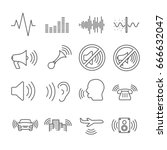 set of noise related vector... | Shutterstock .eps vector #666632047