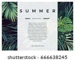 dark vector tropical typography ... | Shutterstock .eps vector #666638245