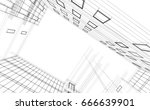 architecture building 3d... | Shutterstock . vector #666639901