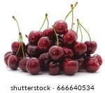 Ripe Cherries Isolated On A...