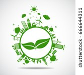 ecology concept. save world | Shutterstock .eps vector #666644311