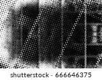 grunge black and white circle... | Shutterstock . vector #666646375