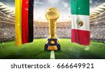 confederations cup. golden... | Shutterstock . vector #666649921