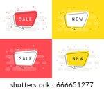 set of trendy flat vector...   Shutterstock .eps vector #666651277