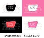 set of trendy flat vector... | Shutterstock .eps vector #666651679