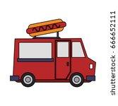 food truck vector illustration | Shutterstock .eps vector #666652111