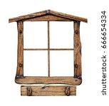 Old Grunge Wooden Window Frame...