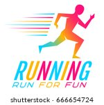 vector sport logo for running.... | Shutterstock .eps vector #666654724