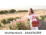 smiling beautiful girl 24 29... | Shutterstock . vector #666656389