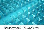 chair rows  3d illustration   Shutterstock . vector #666659791