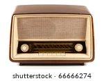 grungy retro radio isolated on... | Shutterstock . vector #66666274