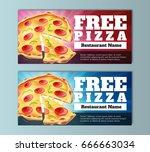 free pizza voucher template ... | Shutterstock .eps vector #666663034