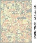 grunge oil painting. oil... | Shutterstock .eps vector #666663631