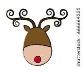 Reindeer Face Animal Cartoon...