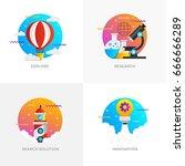modern flat color designed... | Shutterstock .eps vector #666666289