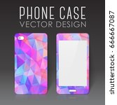 case for mobile phone with... | Shutterstock .eps vector #666667087