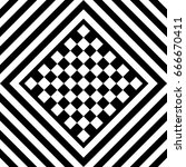 seamless tile with black white... | Shutterstock .eps vector #666670411
