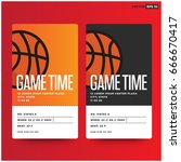game time basketball event... | Shutterstock .eps vector #666670417