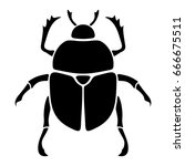 vector black silhouette of a... | Shutterstock .eps vector #666675511