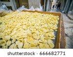 homemade pasta sold on streets... | Shutterstock . vector #666682771