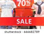 sale shopping season sale label ... | Shutterstock . vector #666682789