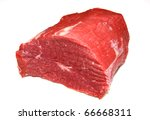 Huge Red Meat Chunk Isolated...