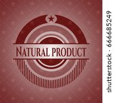 natural product red emblem | Shutterstock .eps vector #666685249