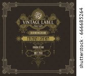 old vintage card with floral... | Shutterstock .eps vector #666685264