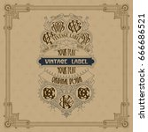old vintage card with floral... | Shutterstock .eps vector #666686521