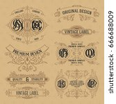 old vintage floral elements  ... | Shutterstock .eps vector #666688009