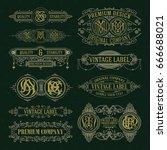 old vintage floral elements  ... | Shutterstock .eps vector #666688021